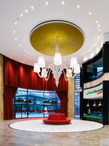 """THE LARGE ENTRYWAY IS CALLED THE """"VESTIBULE"""" AND BOASTS AN IMPRESSIVE CHANDELIER WEIGHING 600 KILOGRAMS. IMAGE: SCHWITZKE"""