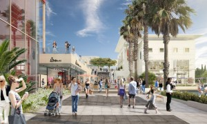 """POLYGONE RIVIERA WILL BE THE FIRST """"OPEN"""" SHOPPING CENTER IN EUROPA. IMAGE: ALTERACIONES"""