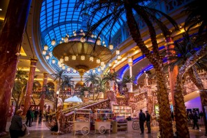 From day one, intu Trafford Centre in Manchester was positioned as a tourist destination taking architectural inspiration from the streets of New Orleans, China Town, and Caeser's Palace in Las Vegas. Image: intu
