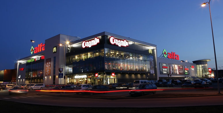 Alfa Retail Park in Riga is to be expanded. Its space for lease will increase to 58,950 sq m. Image: Linstow