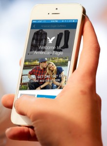 """""""American Eagle""""; Credit: shopkick Thanks to the app shopkick, which is based on iBeacon technology, retailers in the US have been able to achieve a measurable increase in sales."""