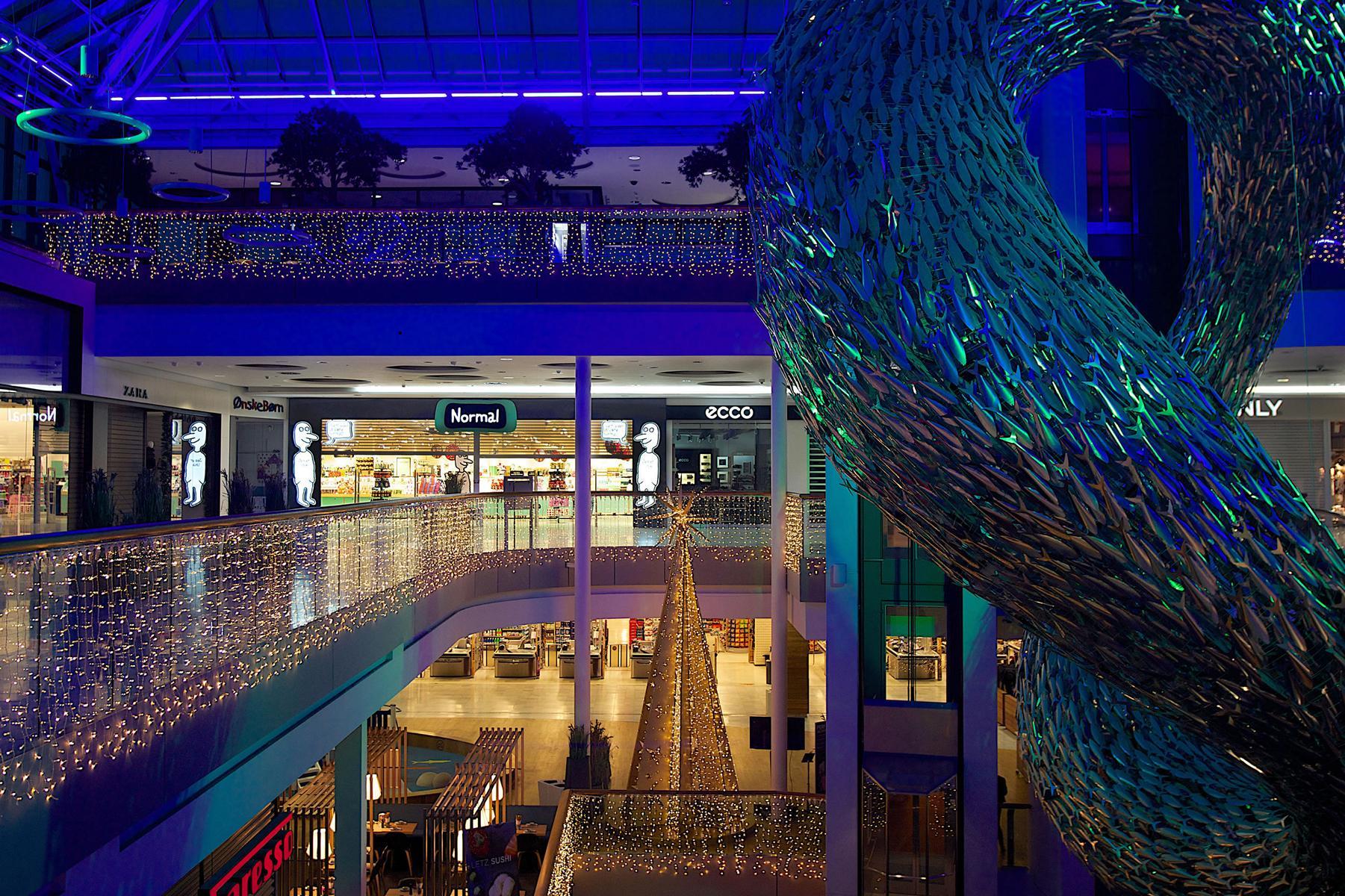 Interactive Amusement In Copenhagens Fisketorvet Shopping Centre