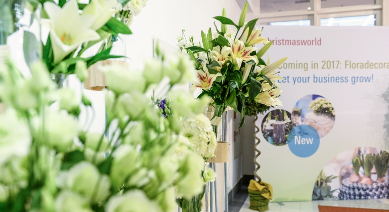 From 2017, the new Floradecora will ensure that fresh flowers, ornamental plants, and flower arrangements are not missing from Christmasworld. Image: Messe Frankfurt