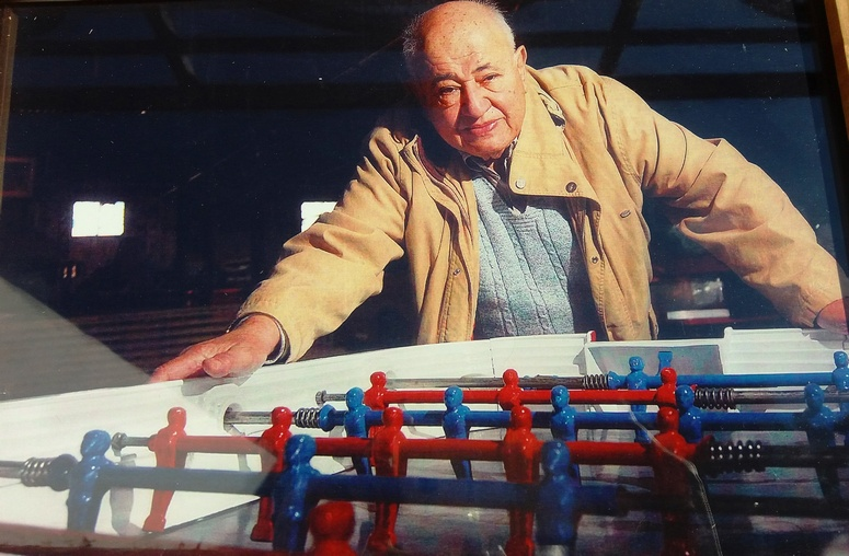 """Dad had a table football business. They actually made them. I remember thinking something made for fun, but hand-made, designed, and painted by artisans."" Image: theleisureway"
