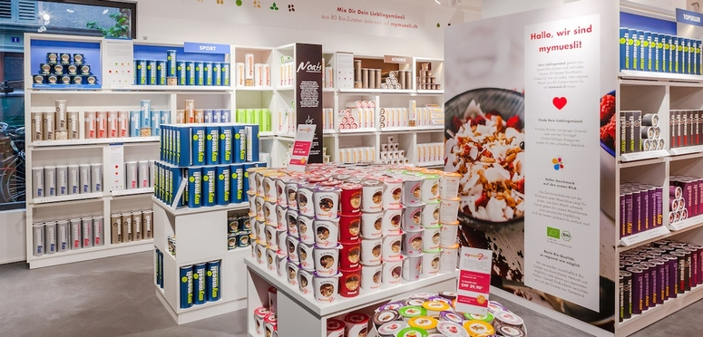 MyMüsli is following an offline strategy strictly aimed at sales volume. Image: MyMuesli