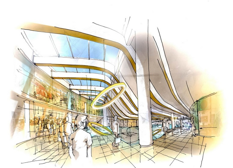 With the ongoing extension of 10,000 sq m GLA at PEP, the scheme will become the largest shopping center in Munich. Image: IP Broadway Malyan