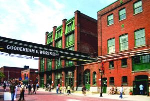 The Distillery District in Toronto plays host to various events throughout the year. Image: Distillery District