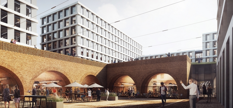 Echo's latest projects in Warsaw—for example Browary Warszawskie—will be models of modern and multifunctional areas in Poland and Europe. Image: Echo Investment