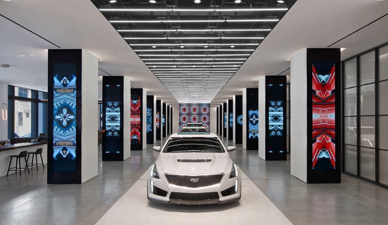 Cadillac House in New York opened last year. Image: Gensler
