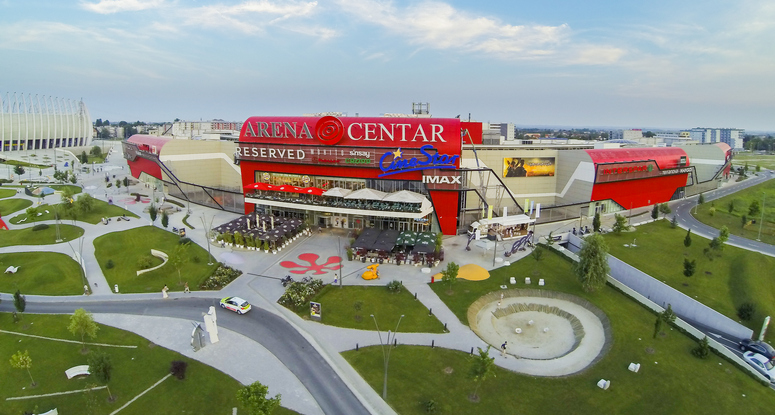 The Arena Centar in Zagreb, which opened in 2010, is one of the best malls according to the survey. Image: Nepi
