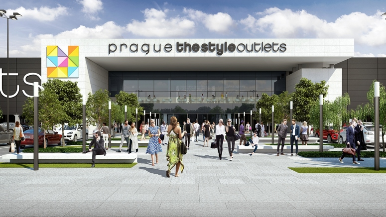 The initial phase of Prague The Style Outlets will feature 20,000 sq m and 110 shops. Image: Neinver