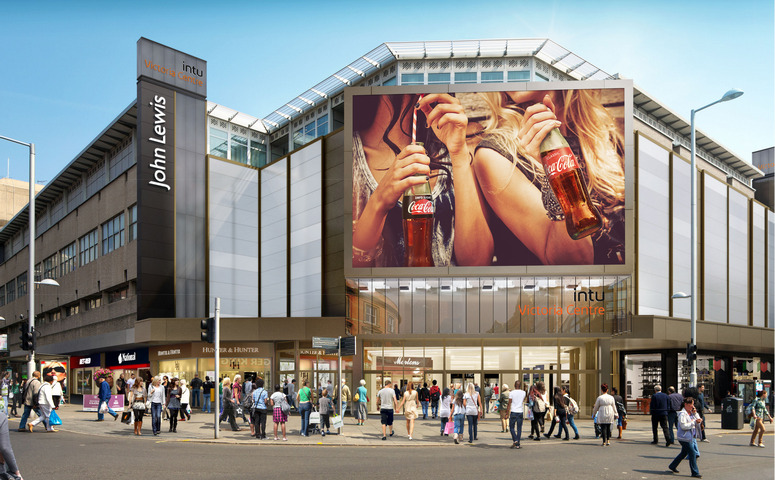 Want a Coke? The Audience Recognition Cameras are meant to ask shoppers that question after determining their age, gender, and even their emotional state. Image: intu