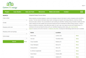IDP (Integrated Design Process) library tool on commonenergyproject.eu. Image: BPIE