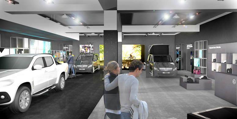 Mercedes benz vans celebrates with intu as it opens first for Mercedes benz complaint department