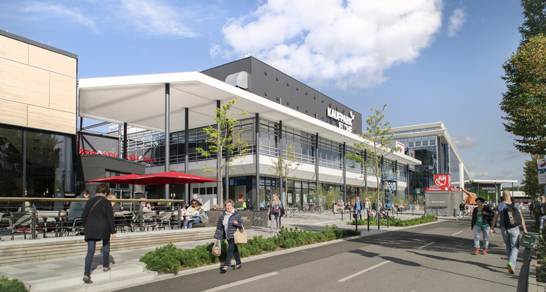 Drees & Sommer was responsible for the project management on the Shopping Center Eiche project near Berlin, which was opened in September 2017. Image: Nils Krüger / Kaufpark Eiche
