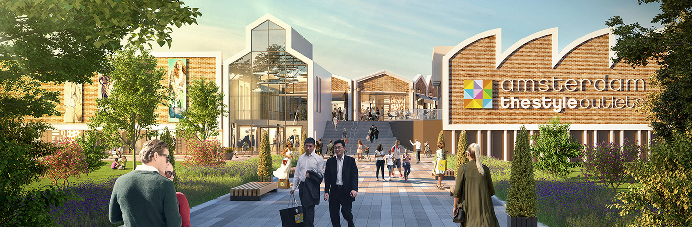 a6156a0ac9c3 Amsterdam The Style Outlets' 19,000 sq m of GLA will house 115 stores in a  waterside setting. Image: Neinver
